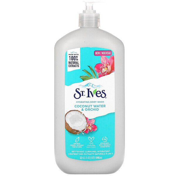 St. Ives, Hydrating Body Wash, Coconut Water & Orchid, 32 fl oz (946 ml)